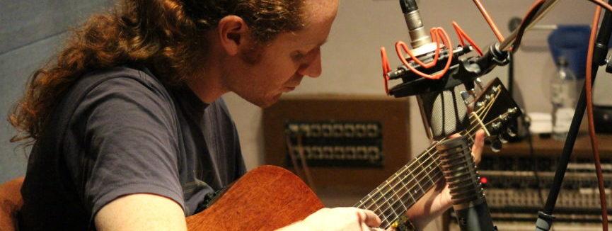 Andy Moir Plays Guitar at Silver Street Studios